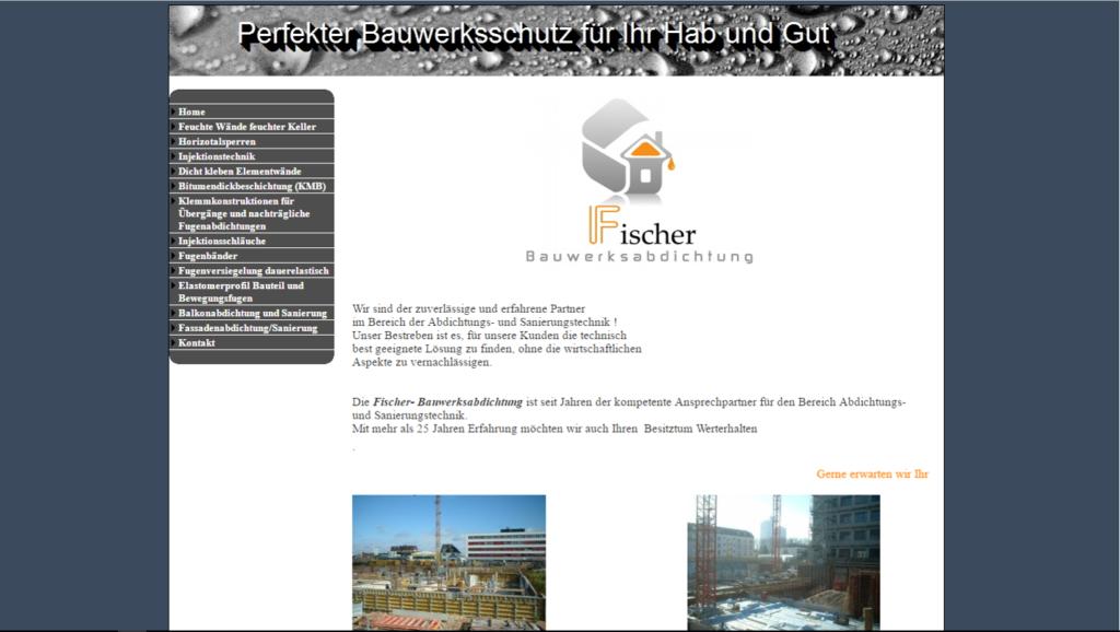 Bauwerksabdichtung Fischer