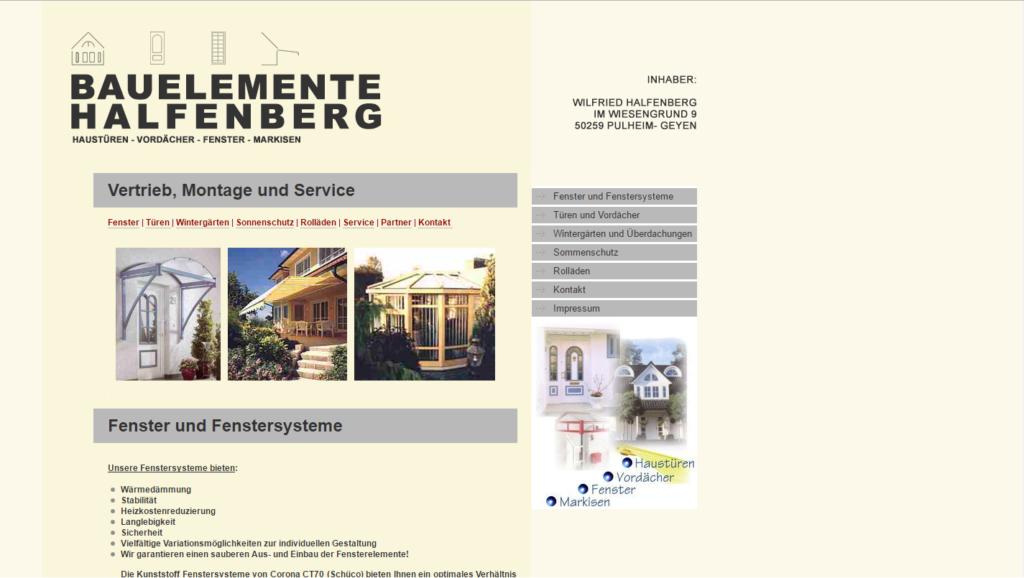Bauelemente Halfenberg