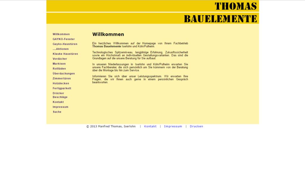 Thomas Bauelemente